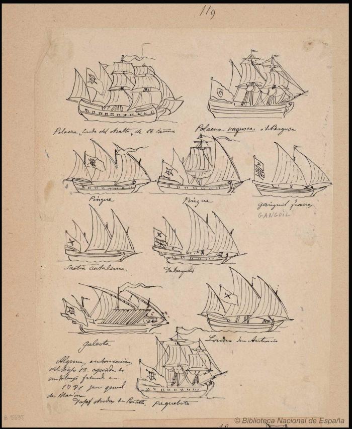 Monleón y Torres, de nuevo. Aquí la saetía viene identificada. Fuente: Biblioteca Digital Hispánica.
